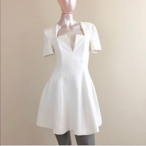 Cameo Dannika White Fit And Flair Dress